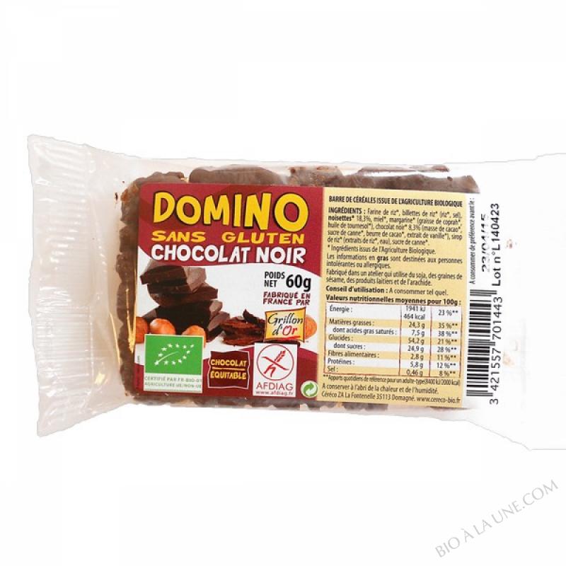 Domino sans gluten chocolat noir 60g