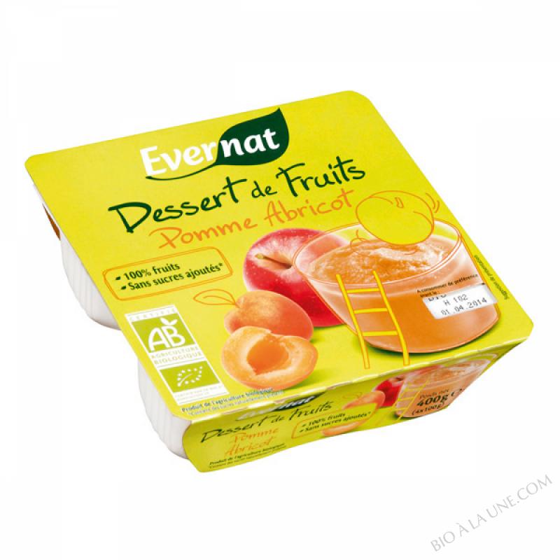 Dessert de Fruits Pomme Abricot 4x100g