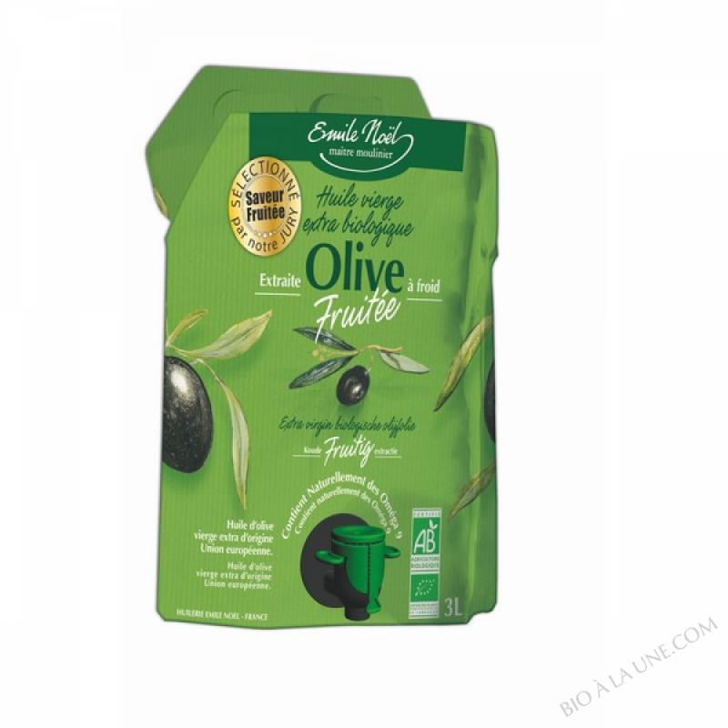 Huile d'olive vierge extra fruitée bio - 3L