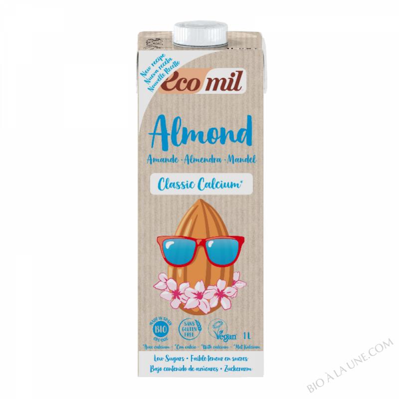 Lait d'Amande Bio Classic Calcium avec sucre de canne 1L
