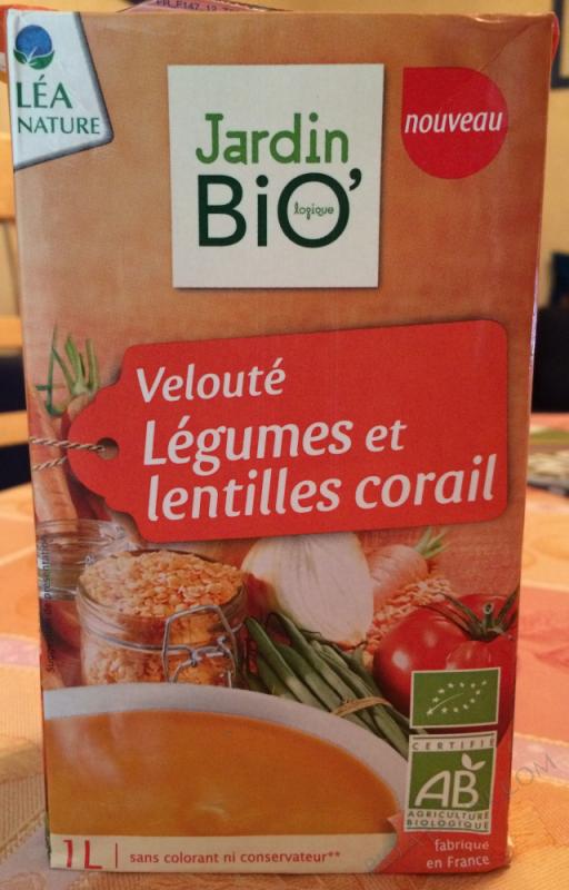 Veloute legumes et lentilles corail 1L