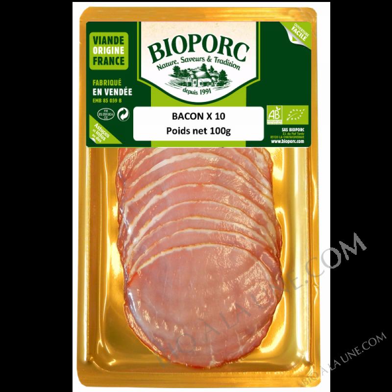 Bacon fumé au bois de hêtre
