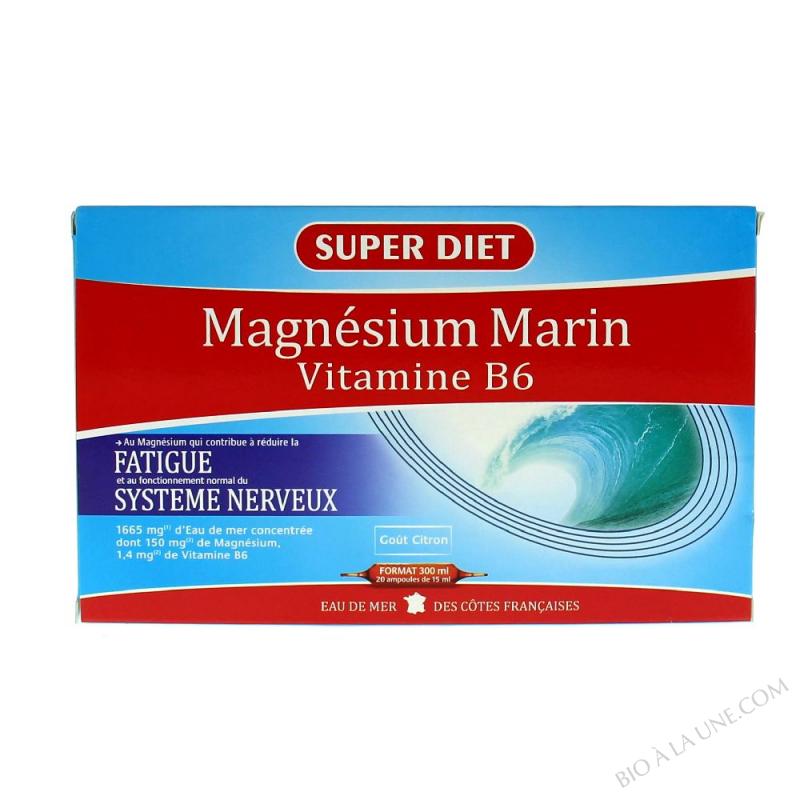 Magnésium marin - 20 ampoules