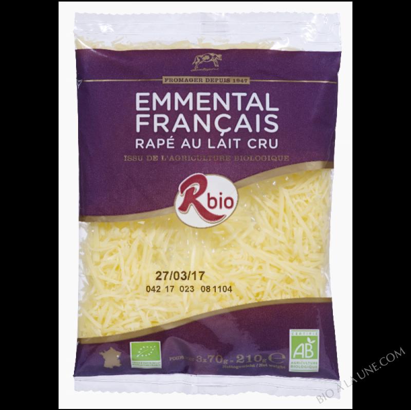 emmental rapé 70g lait cru Français BIO