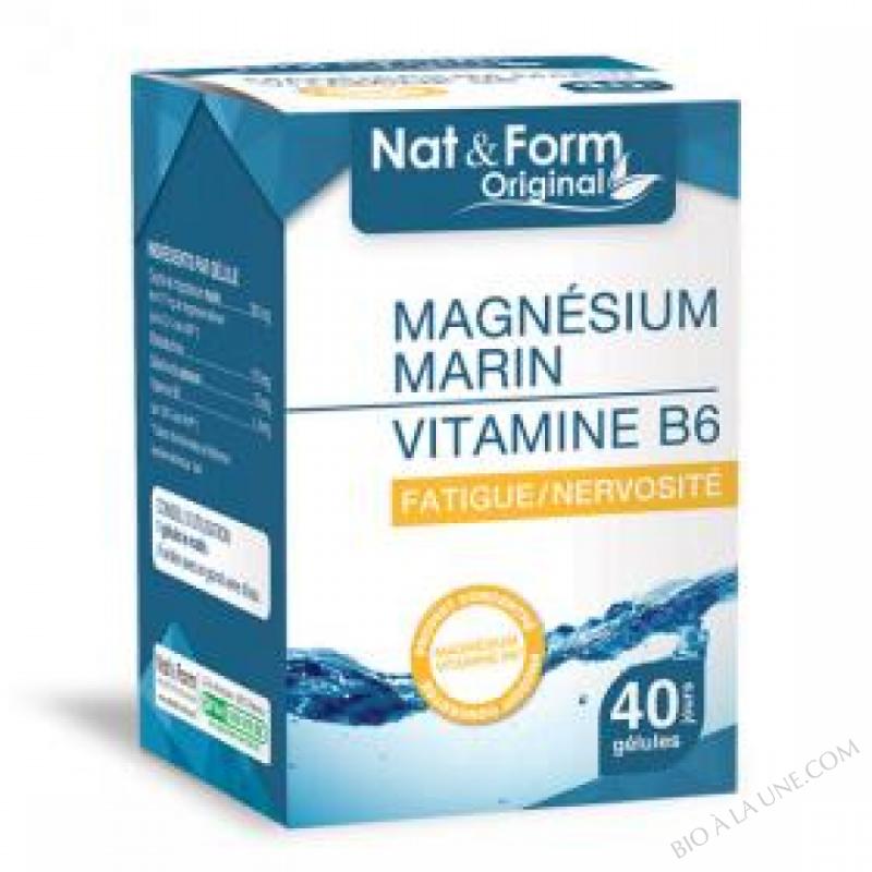 Magnésium Marin vitamine B6 - 2x40 Gélules