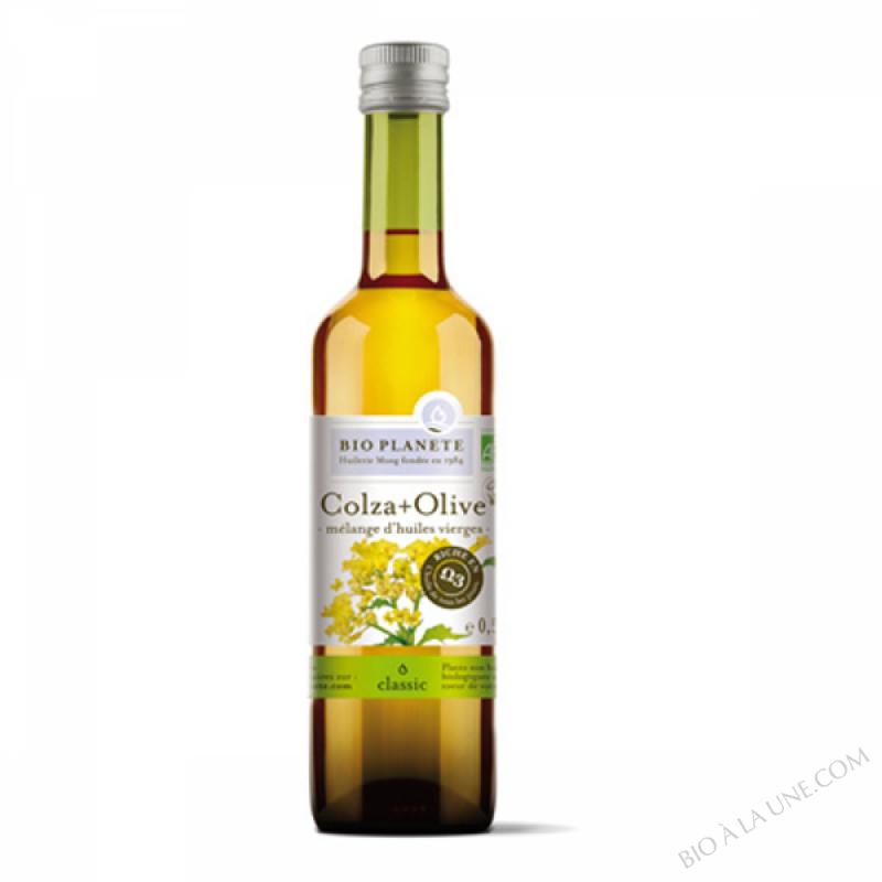 Huile bio Colza + olive vierge 0.5L