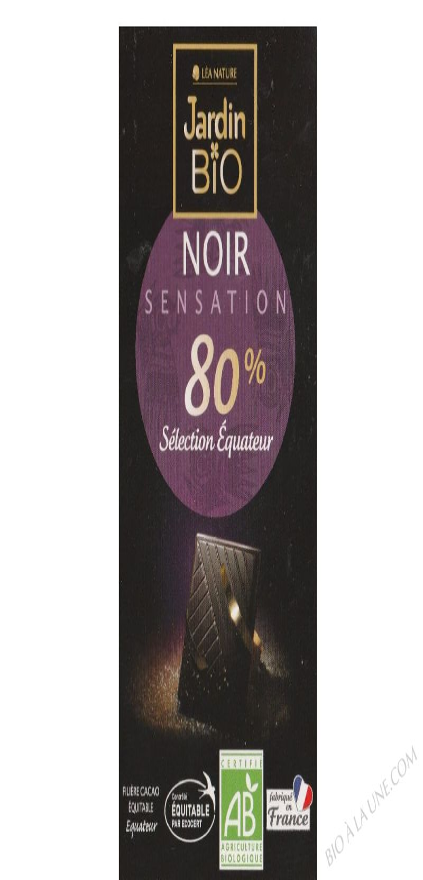 Chocolat noir Sensation 80% cacao 100gr