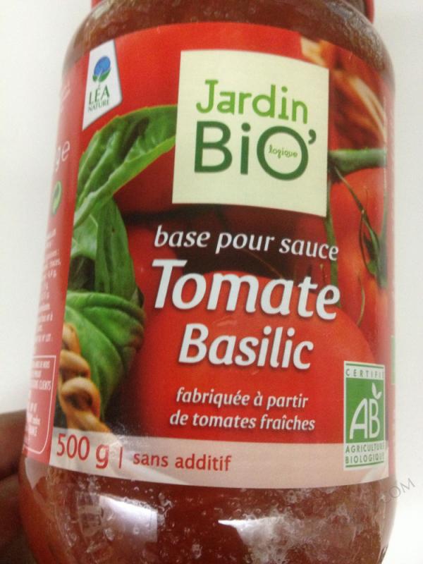 Pulpe de tomate basilic 100gr
