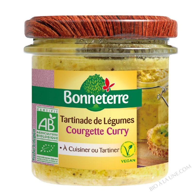 Tartinades De Legumes - Courgette Curry 135gr