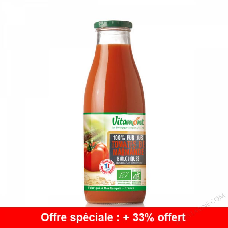 Offre Pur Jus de Tomates Bio 75cL + 25cL gratuits