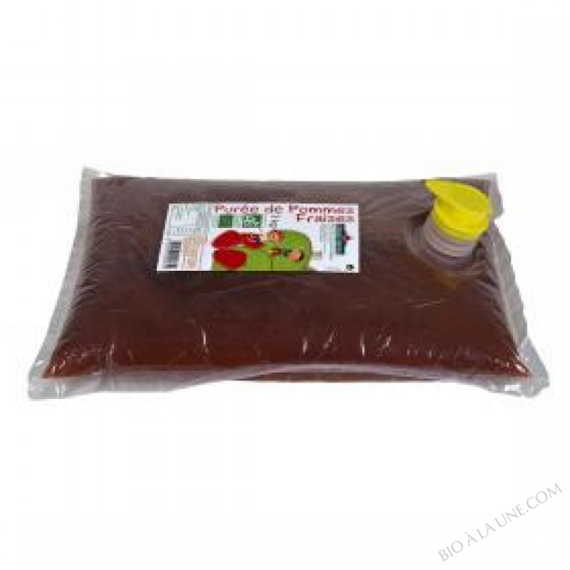 Puree pommes fraises Bio 3kg