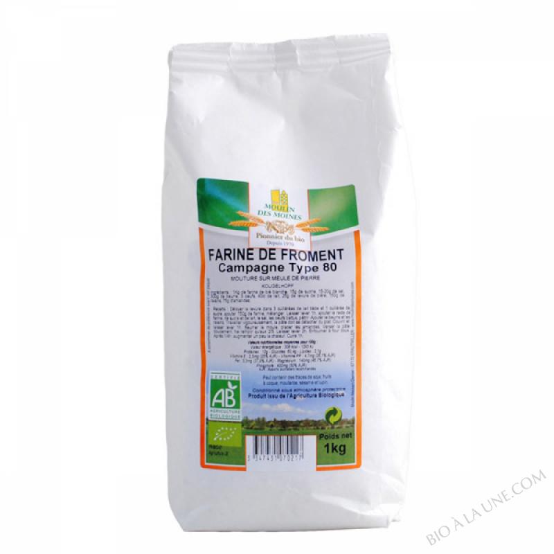 Farine de Froment Bio T80 1kg