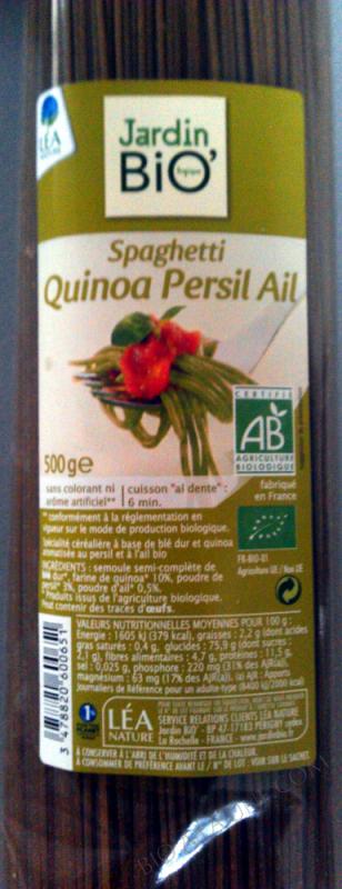Spaghettis quinoa persil ail 500gr