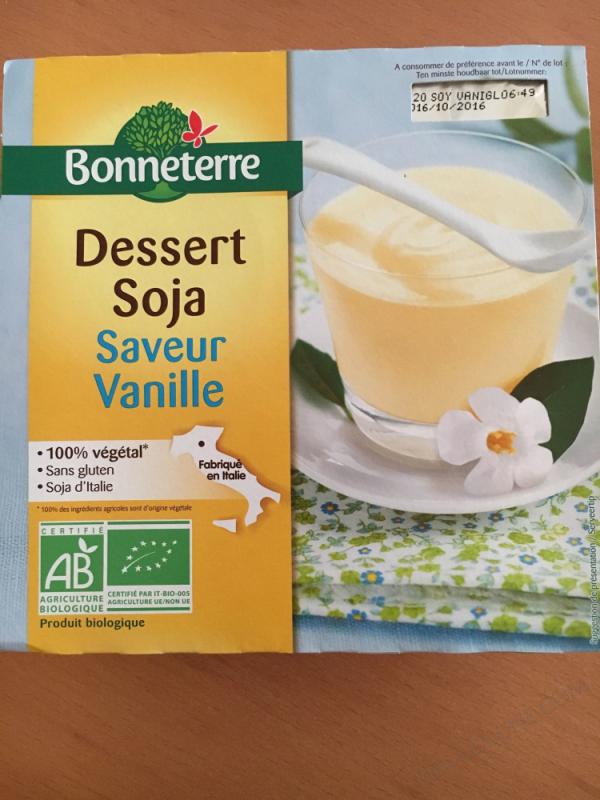 Dessert Soja Saveur Vanille 4x110G