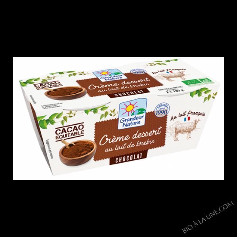 crème au chocolat au lait de brebis - 2x140g