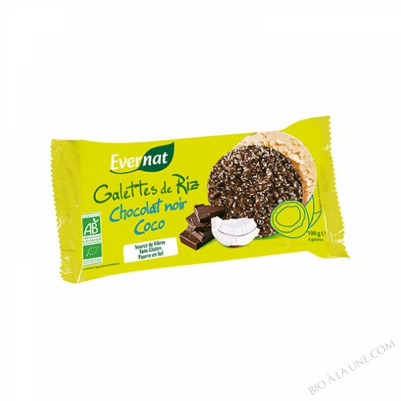 Galettes De Riz Chocolat Noir Coco 100gr
