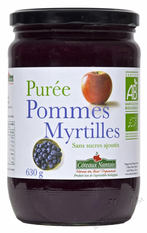 Puree pommes myrtilles Bio 630g