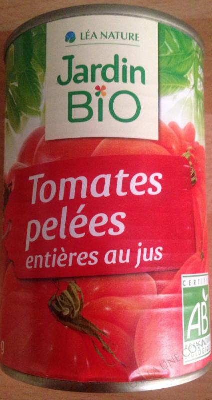 Tomates entières pelees au jus 500gr