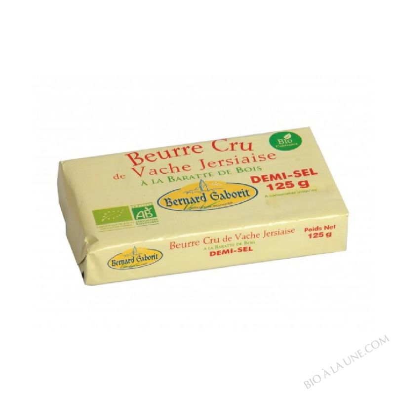 BEURRE CRU 1/2 SEL 125G GABO.