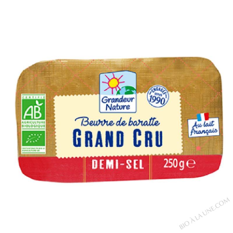 BEURRE DE BARATTE GRAND CRU DEMI-SEL 250 G GRANDEUR NATURE