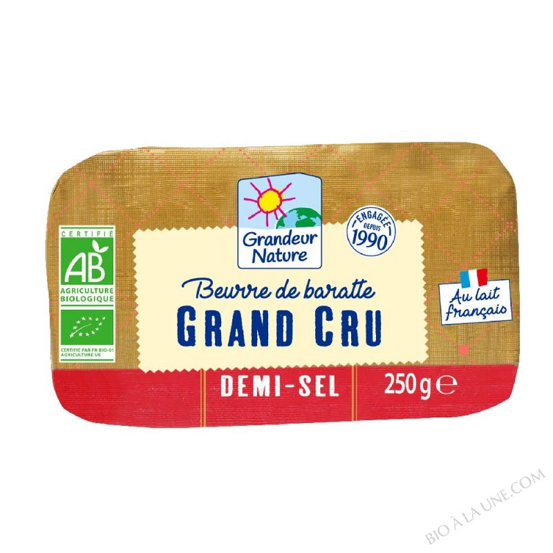 Beurre de baratte grand cru demi-sel 250g