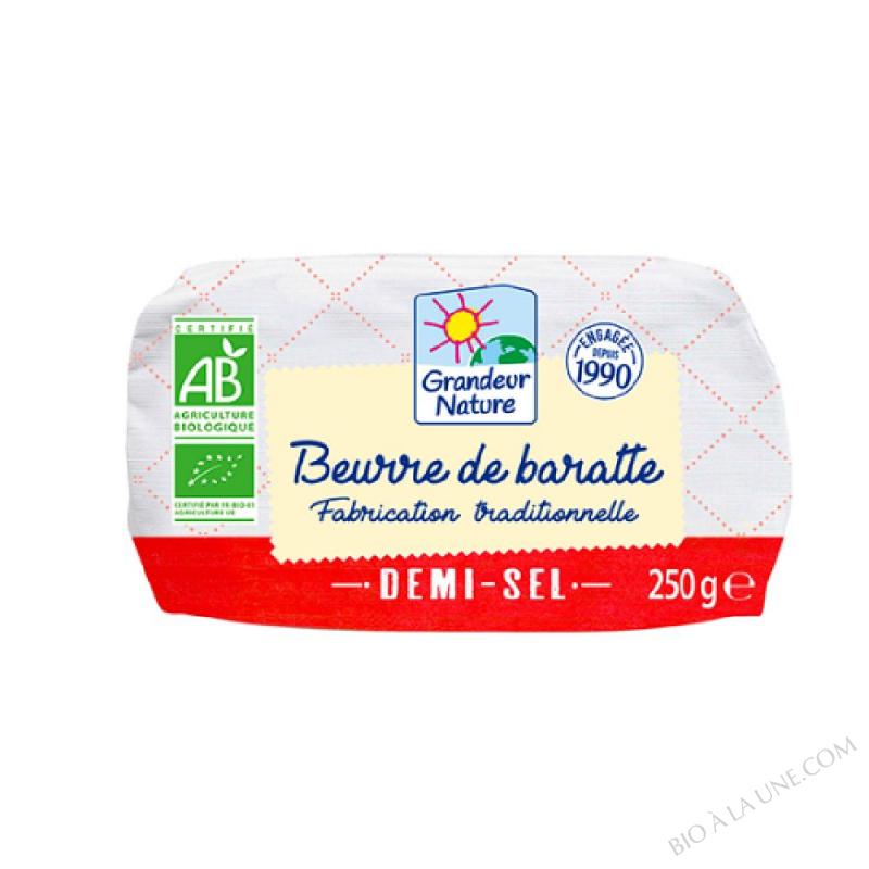 Beurre baratte bio demi-sel 250g