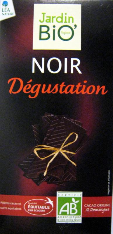 Chocolat noir Degustation 70% cacao 100gr