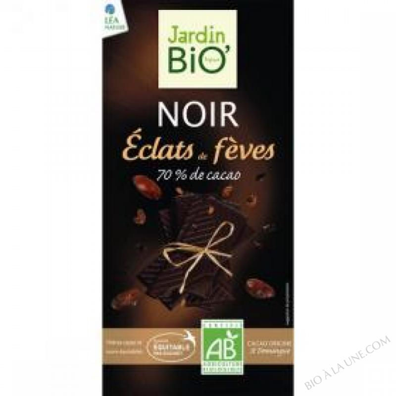Chocolat noir eclats de feves 70% cacao 100gr