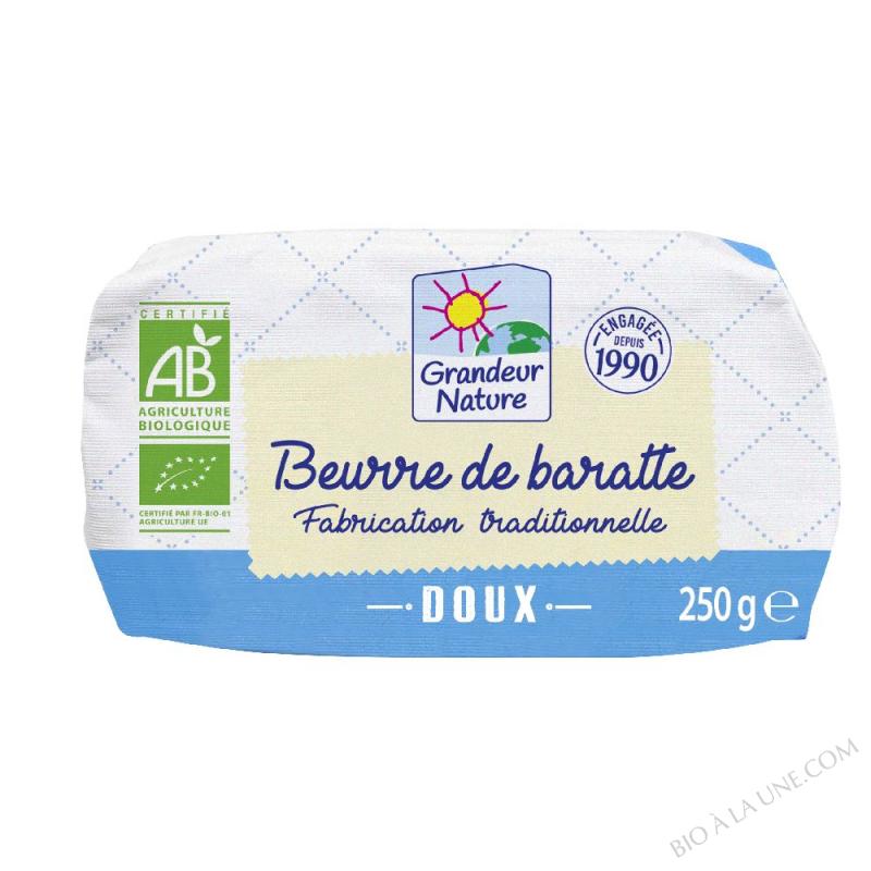 Beurre de baratte bio doux 250g
