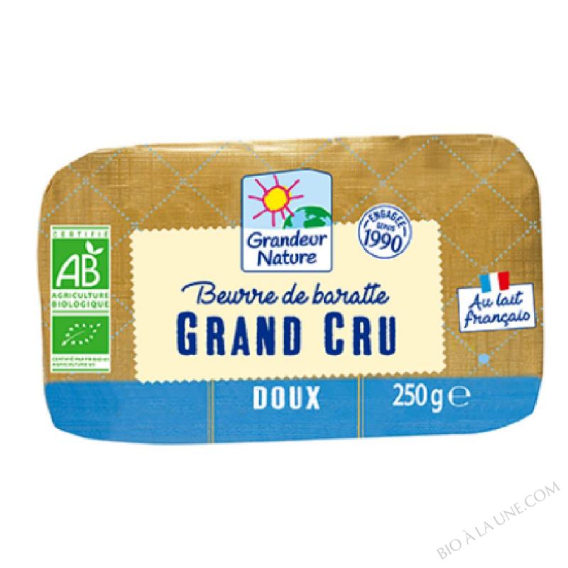 BEURRE DOUX CRU BARATTE 250G GRANDEUR NATURE