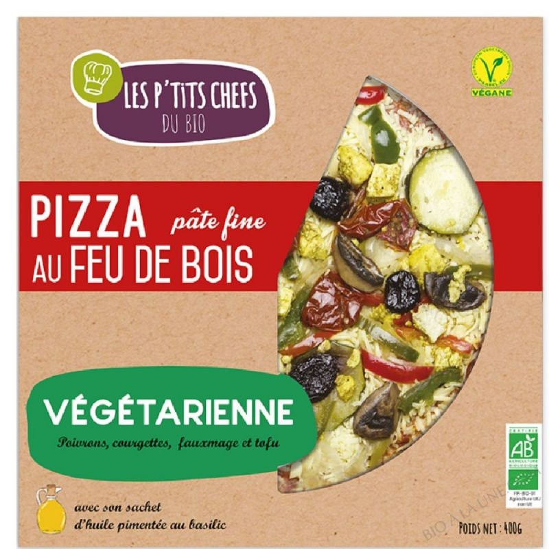 PIZZA VEGETARIENNE AU FEU DE BOIS 400 G