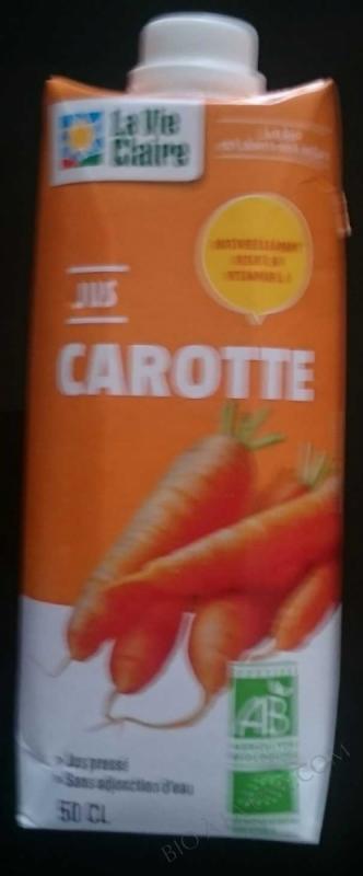 Jus de carotte- 50 cl