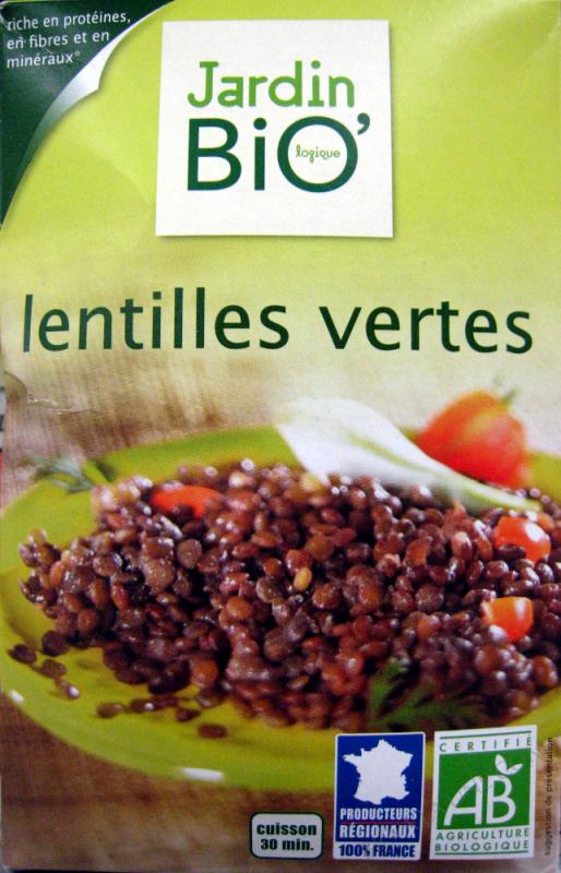 LENTILLES VERTES DE FRANCE - 500G