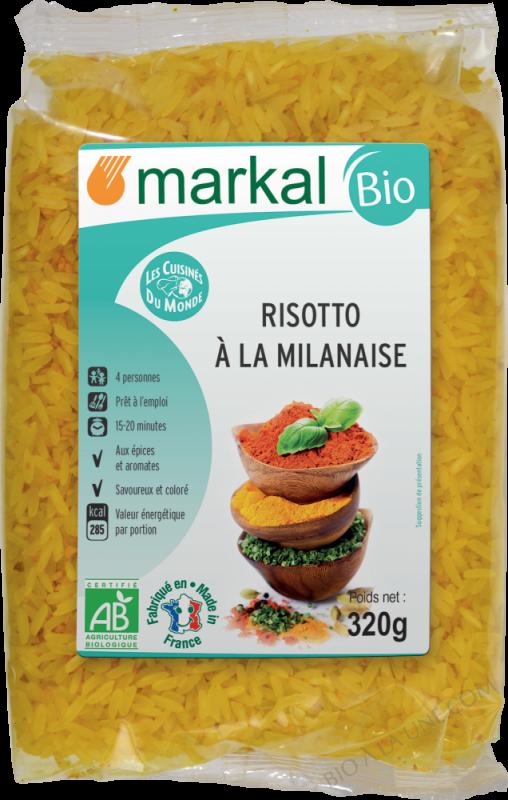 RISOTTO  A LA MILANAISERiz blanc, oignons, curcuma, huile d'olive - 320g
