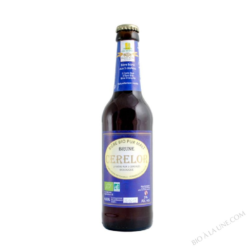 Biere brune aux 5 cereales Cerelor - 33cl