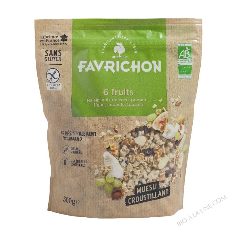 MUESLI CROUSTILLANT 6 FRUITS     - 500 g