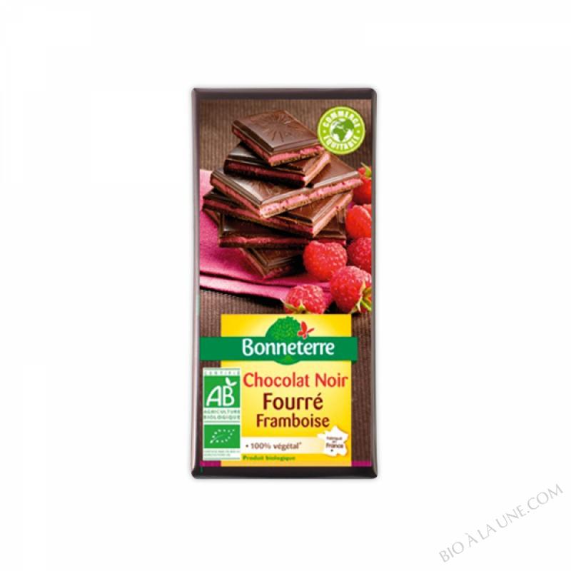 Chocolat Noir Fourre Framboises 100gr