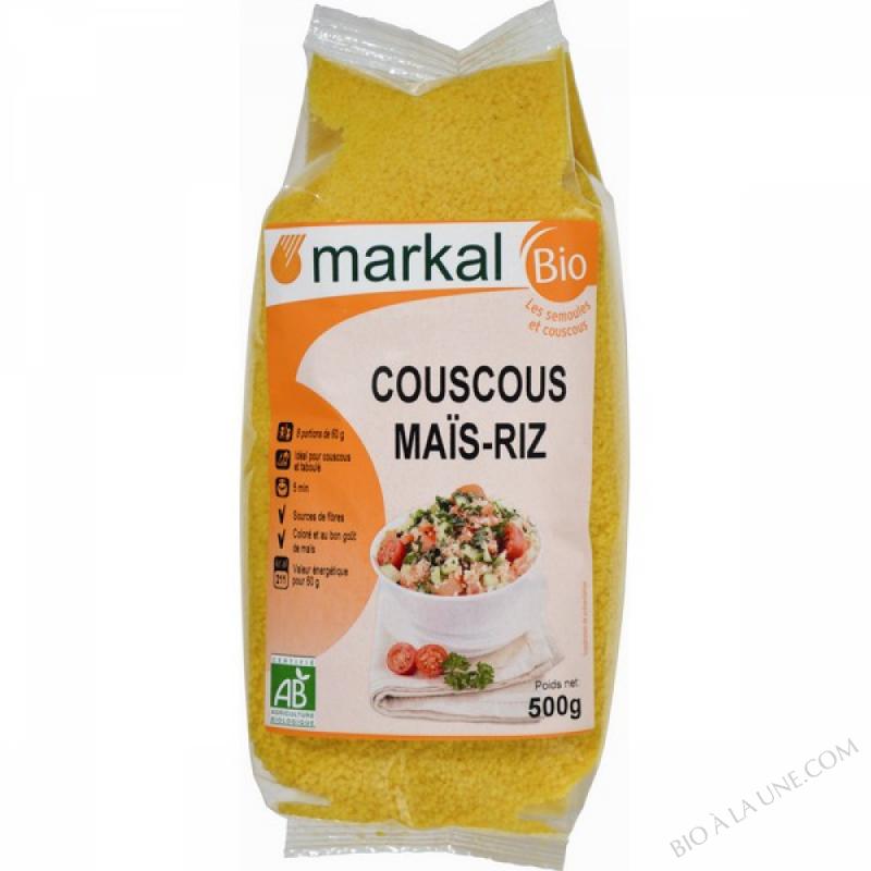 COUSCOUS MAÏS - RIZ (70% maïs - 30% riz) - 500g