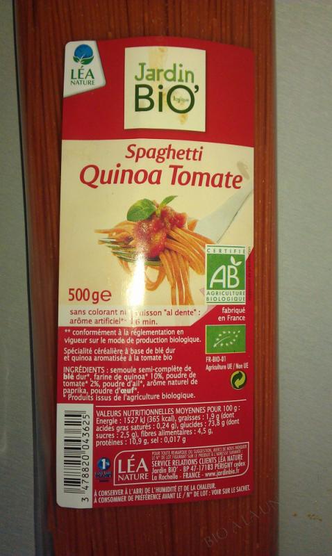 Spaghettis quinoa tomate 500gr