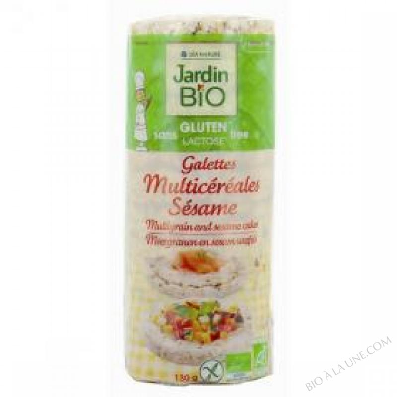 Galettes Multicereales Sesame sans gluten 130g