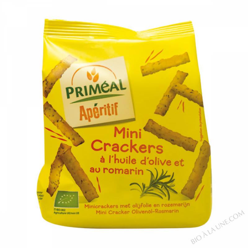 Mini crackers à l'huile d'olive et romarin bio 100g