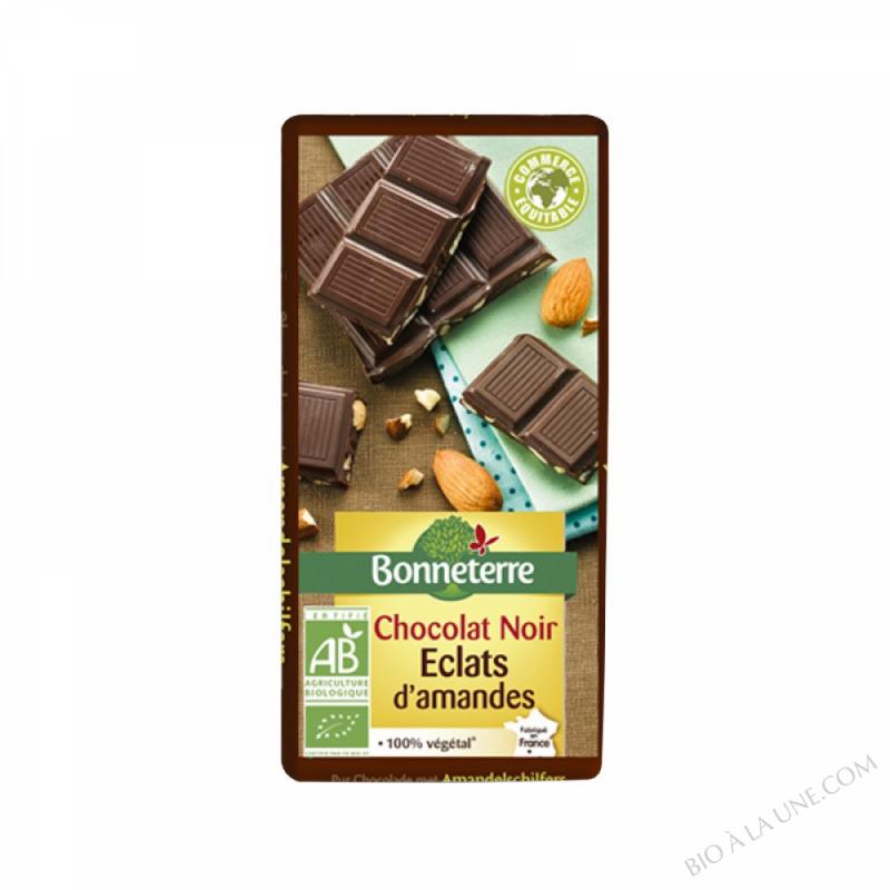 Chocolat noir eclats amandes 100g