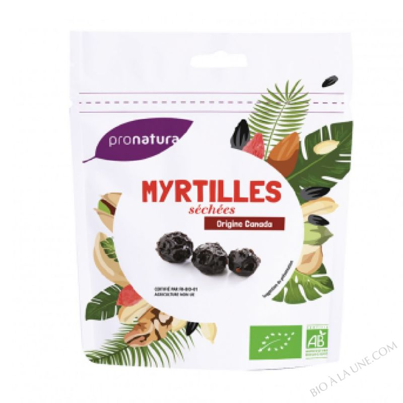 Myrtilles sechees 125g