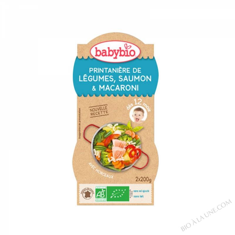 BABYBIO Bol Légumes Saumon Macaroni Estragon