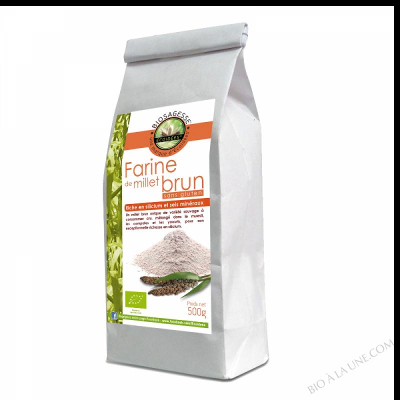 Farine de Millet brun sauvage 500g Bio