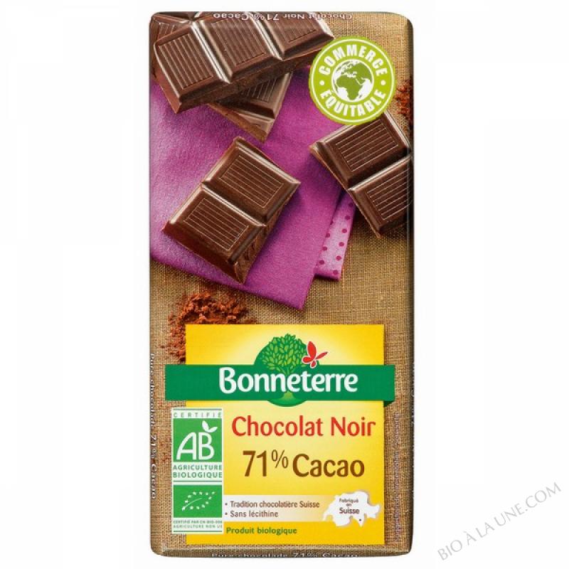 Chocolat Noir 71% Cacao 100gr