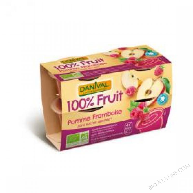Puree Pommes framboises BIO 4 x 100g