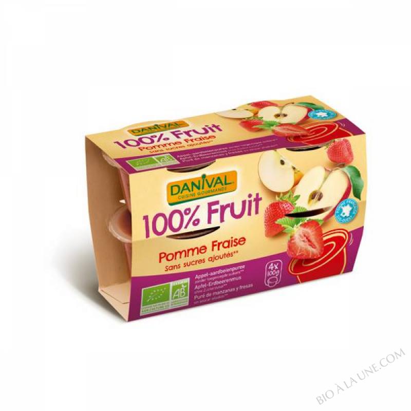 Dessert Pomme/Fraise 4X110grs