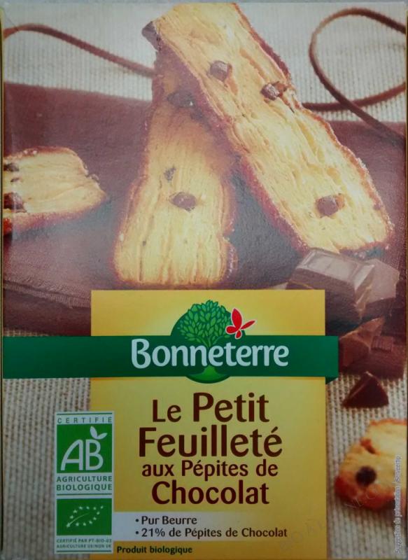 LE PETIT FEUILLETE AUX PEPITES DE CHOCOLAT (PUR BEURRE) 120GR