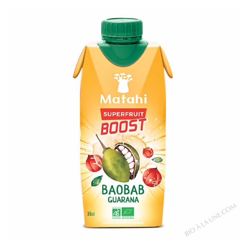 BOISSON ENERGISANTE A LA PULPE DE FRUIT DE BAOBAB ET A LA GUARANA BIO - 33cl